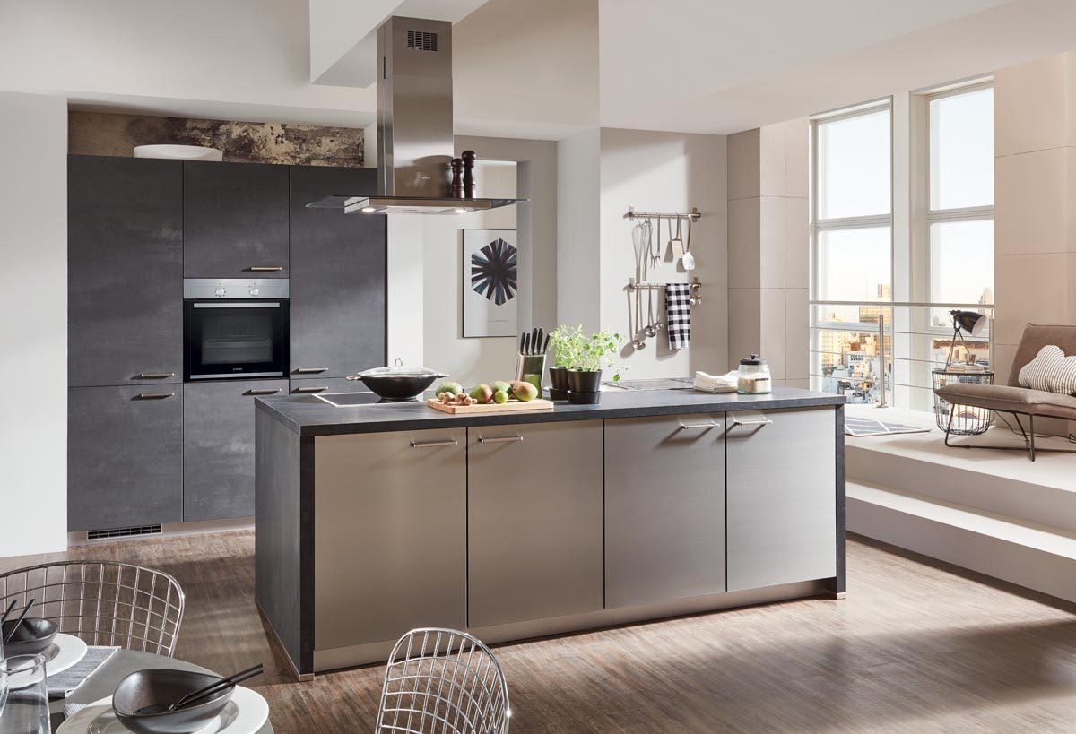 Betonküchen von nobilia: Helle und dunkle Küchen in Betonoptik
