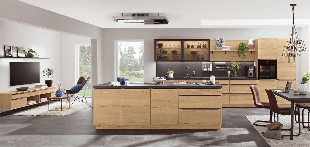 Natural Living Küche mit Structura Holzdekor; Foto: nobilia