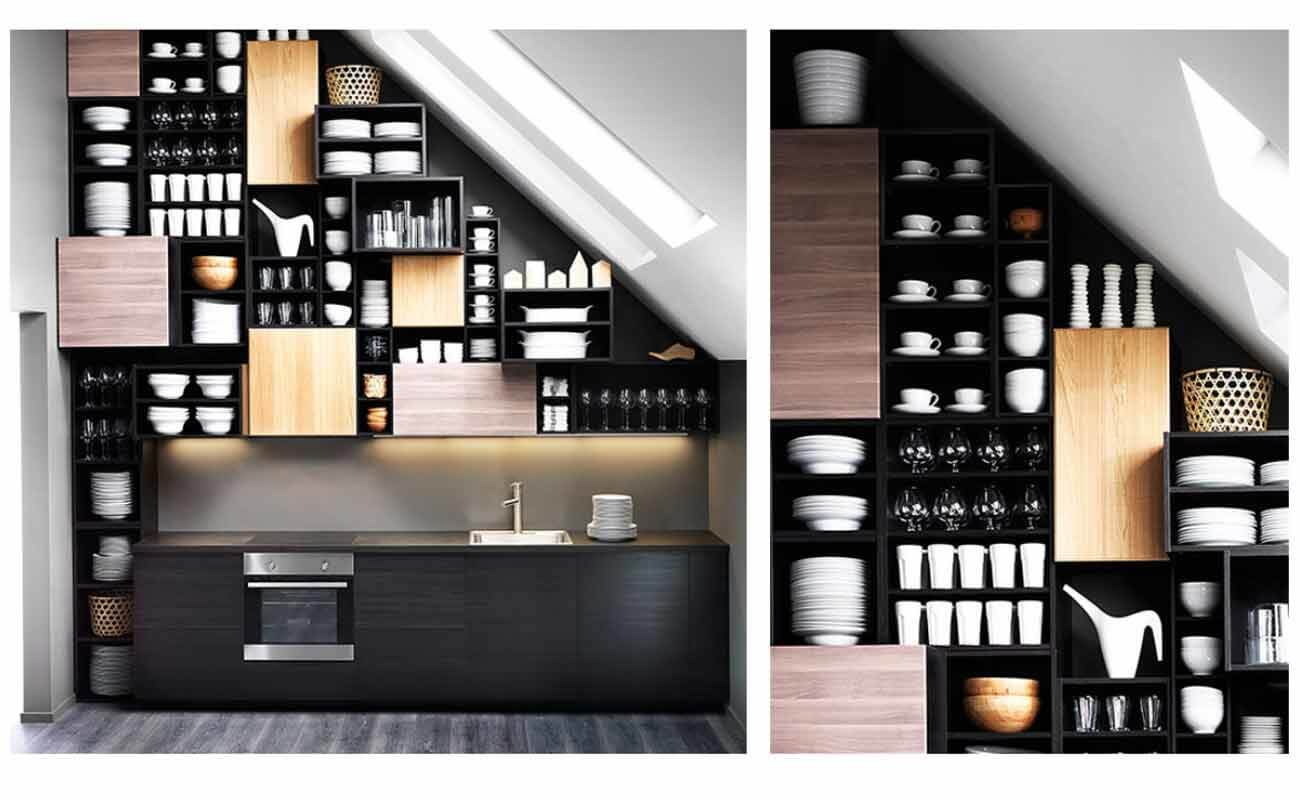 Nie wieder Beulen - 7 Ideen für Küchen mit Dachschrägen - Küchenfinder