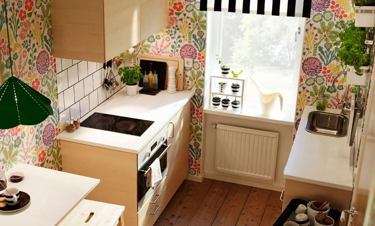 Kleine Einbauküche von Ikea, HAGANÄS KÜCHE Quelle: Inter IKEA Systems B.V.