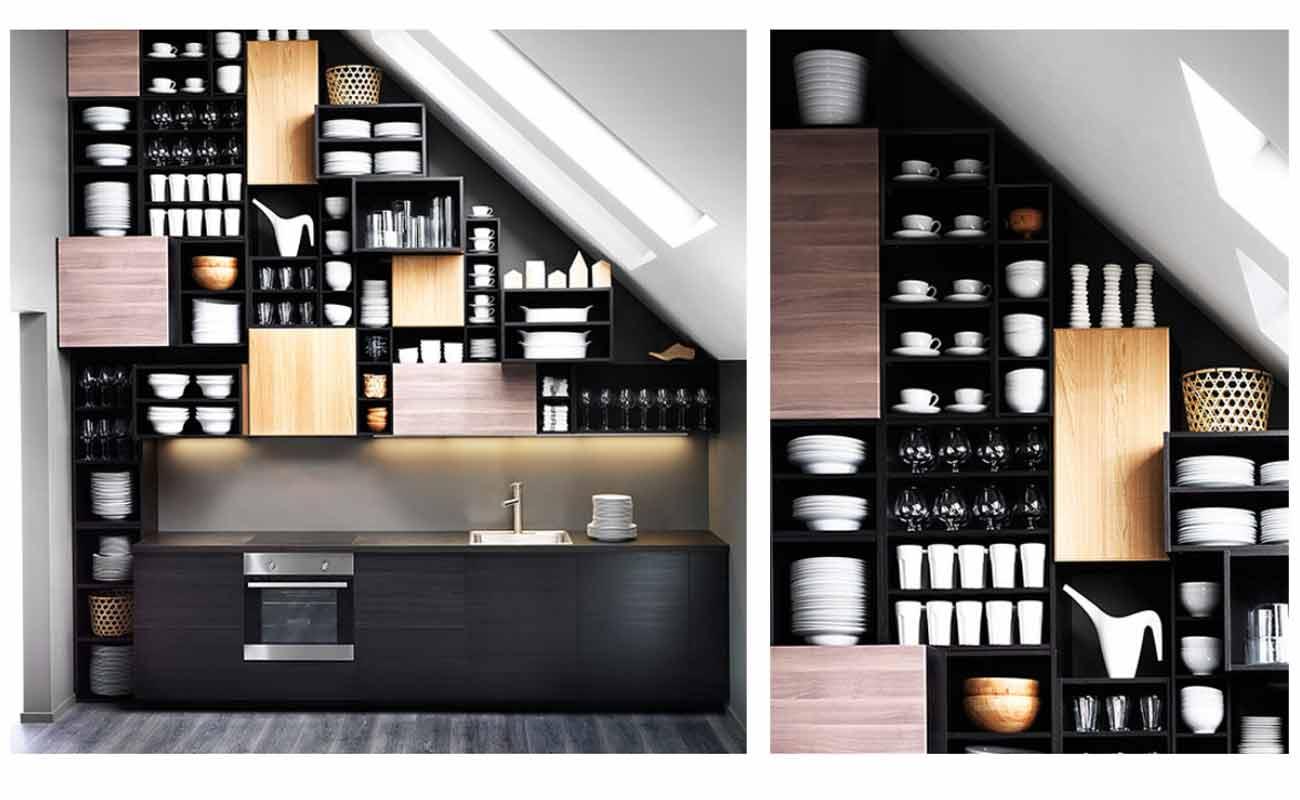 Nie wieder Beulen - 7 Ideen für Küchen mit Dachschrägen ...