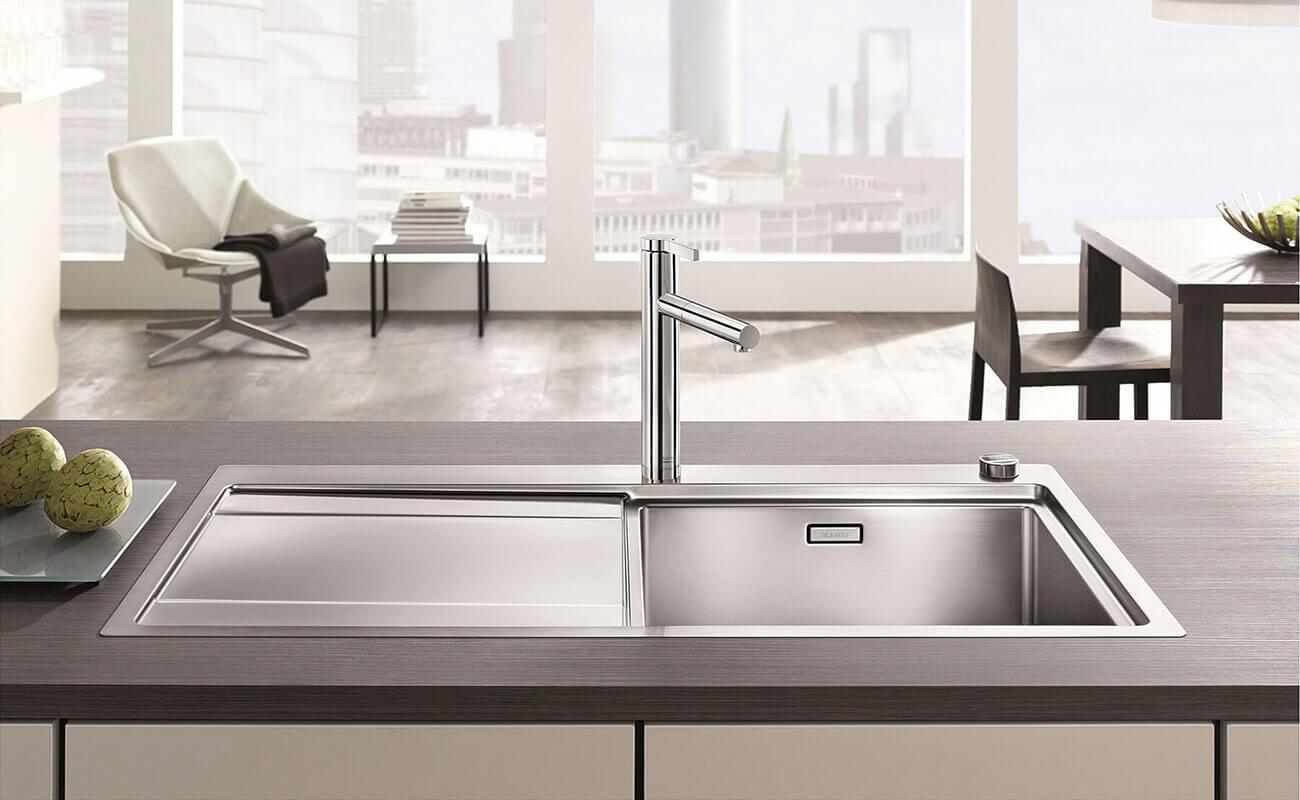 Küchenspüle Edelstahlspüle Blanco Divon 6S IF und Küchenarmatur Blanco Linus S. Quelle: Blanco Germany