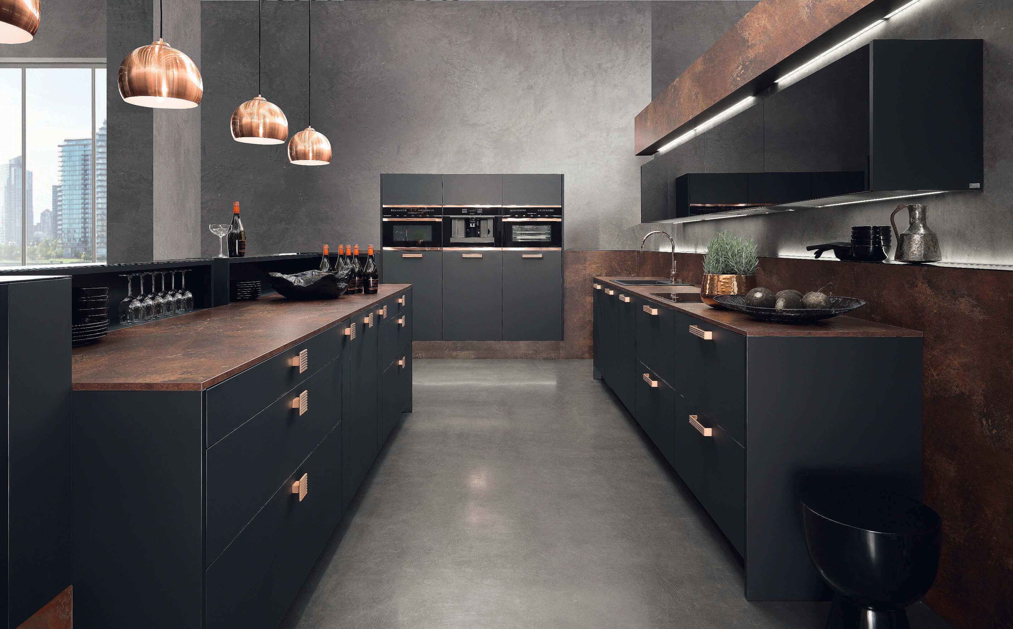 Schwarze Küche: Bilder & Ideen für dunkle Küchen - Küchenfinder