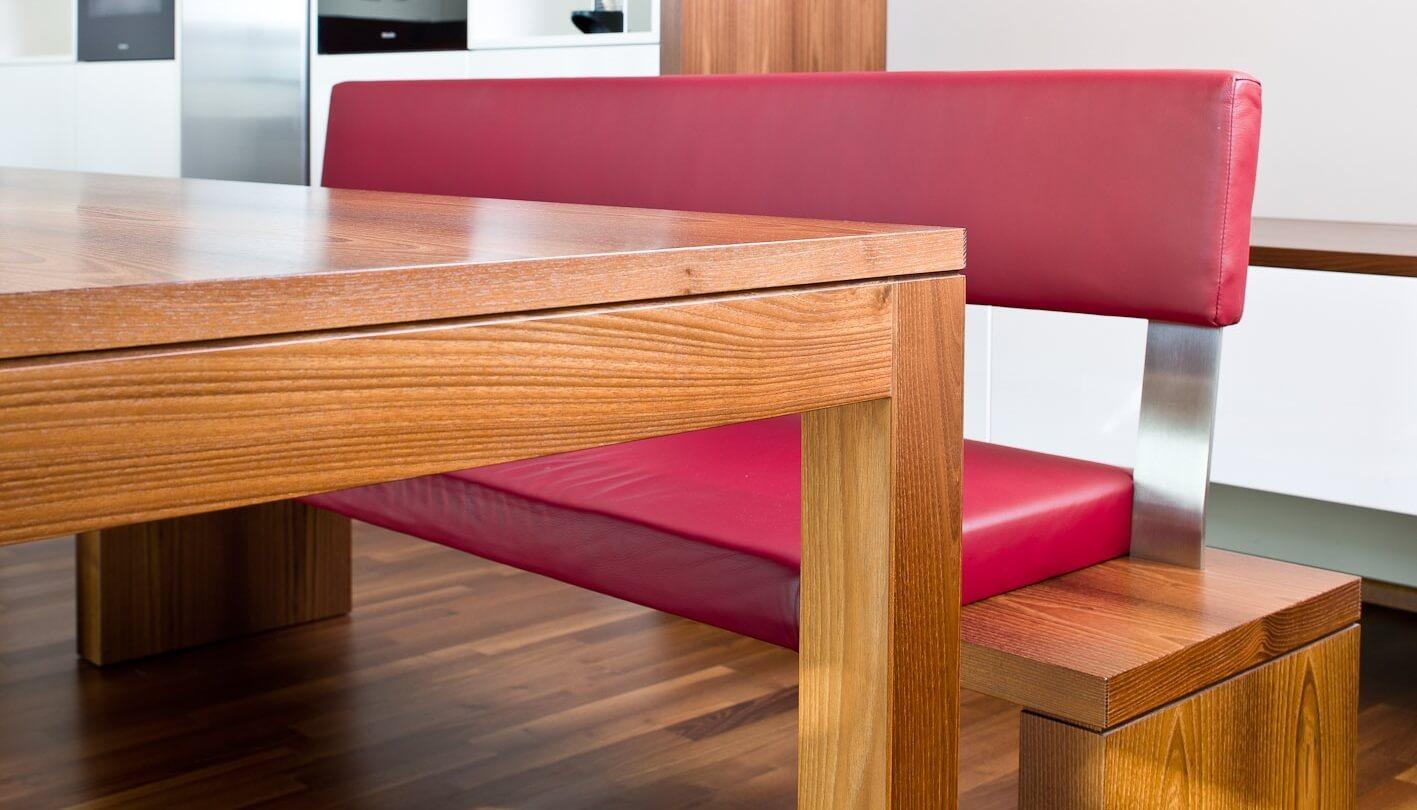 Esstisch und Sitzbank mit Leder, Foto: Hase & Kramer