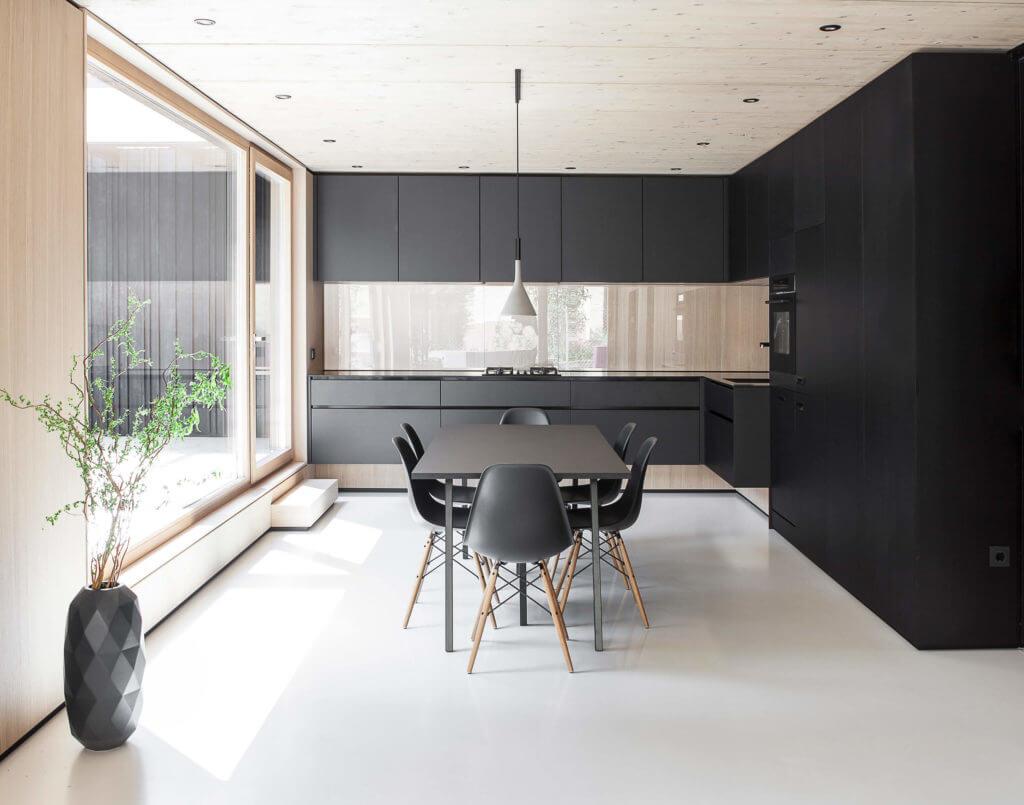 Schwarze Designer Kuche Moderne Kuche Im Skandinavischen Stil