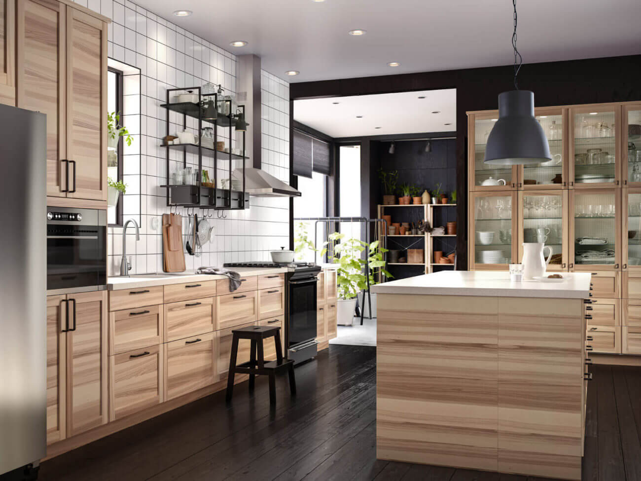 IKEA-Küche in Holzoptik