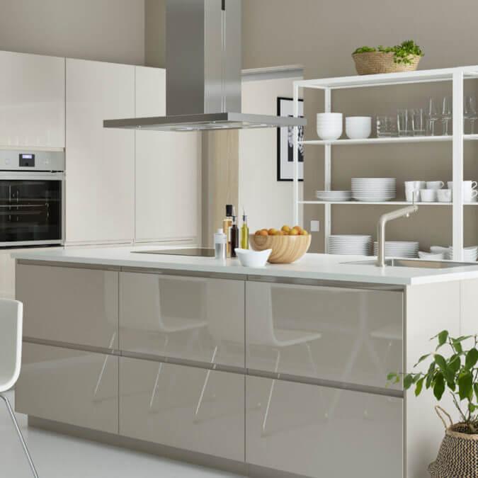 IKEA-Küche in Beige