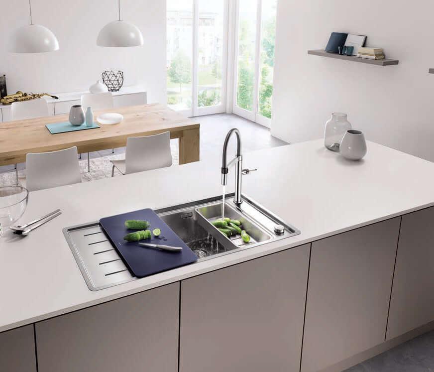 Küchenspüle für ergonomisches Arbeiten; Foto: BLANCO