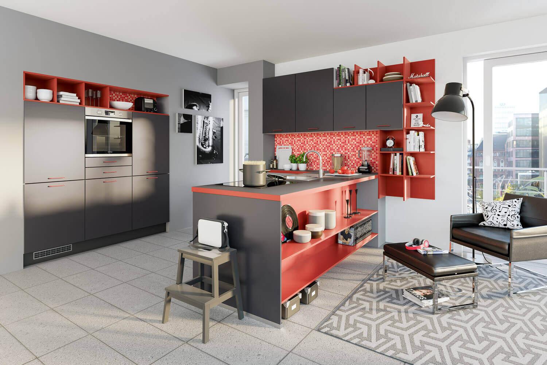 Ideen für die Küchen-Farbgestaltung: 19 Bilder von farbigen Alno