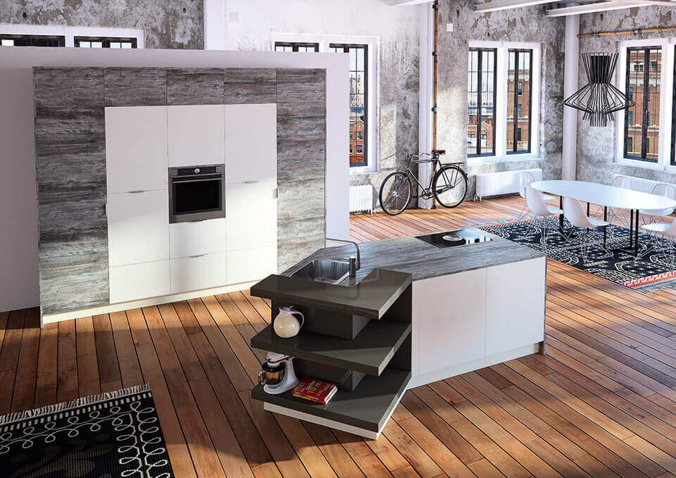 k che mit holzboden 9 bilder ideen von k chen mit parkett und holzdielen k chenfinder magazin. Black Bedroom Furniture Sets. Home Design Ideas