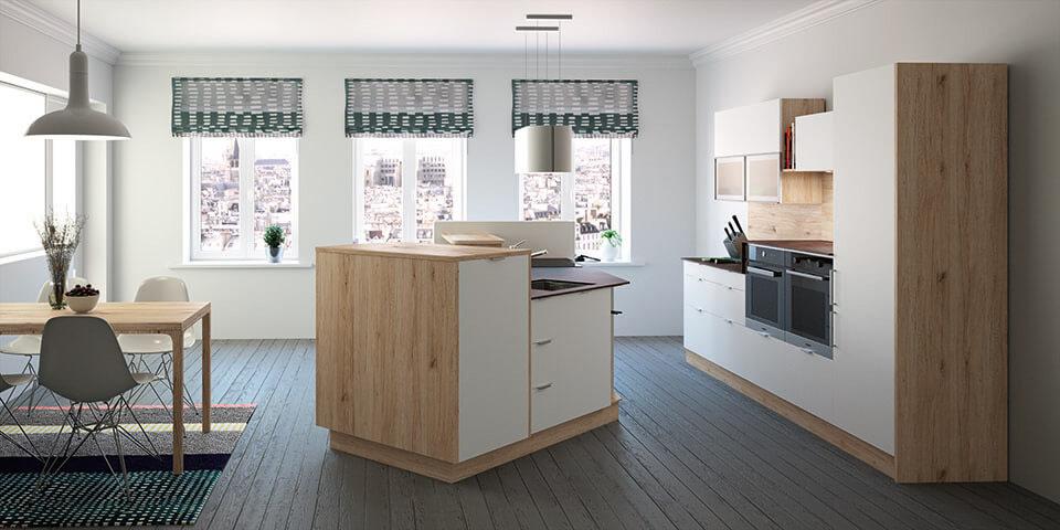 Gardinen am Küchenfenster: Tipps und Ideen für Vorhänge in ...