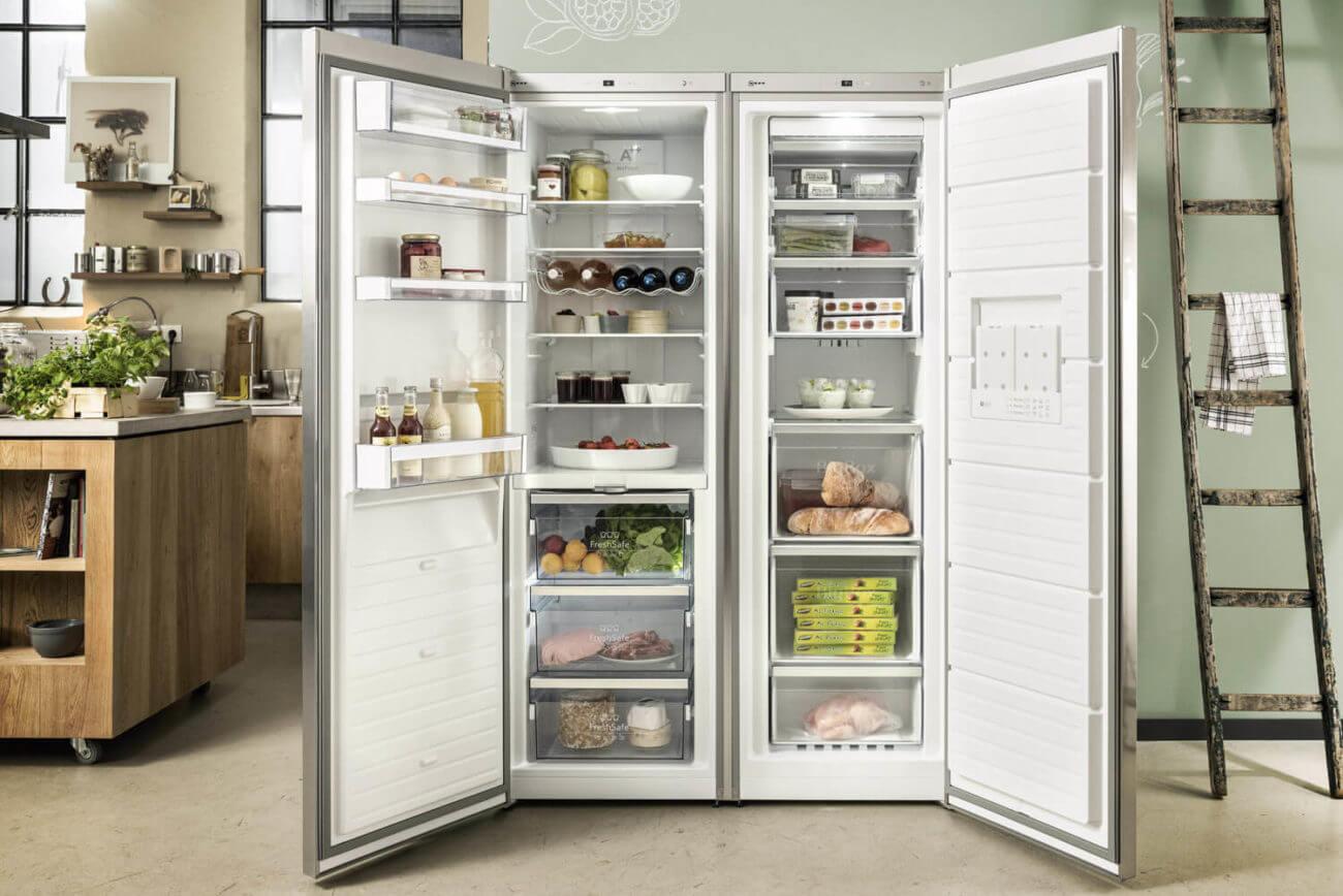 Side By Side Kühlschrank Direkt An Wand : Side by side kühlschrank u ideen und bilder von bosch neff smeg