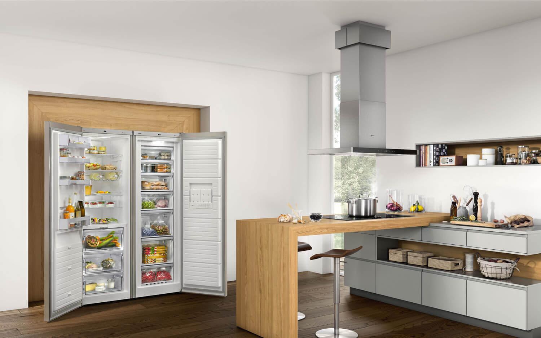 Amerikanischer Kühlschrank Schwarz : Side by side kühlschrank u2013 ideen und bilder von bosch neff smeg