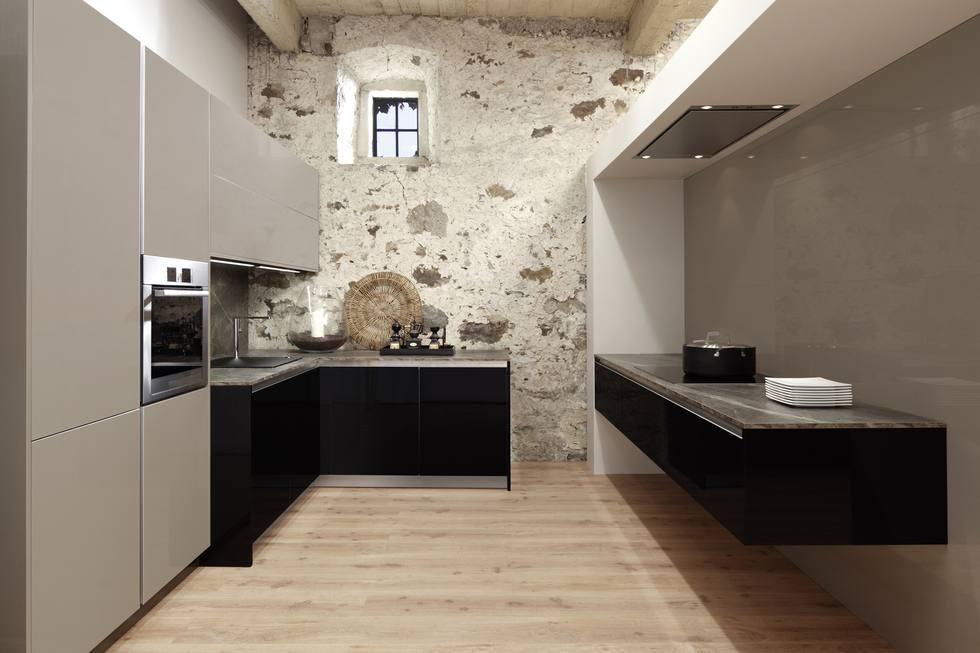 Küche in U-Form Riva, Foto: allmilmö