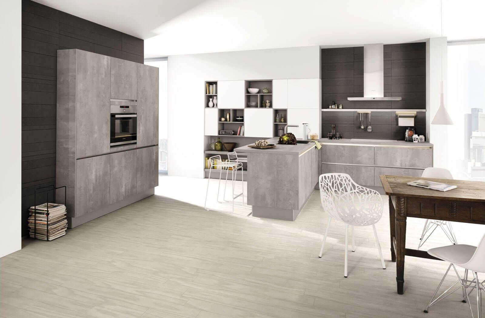 beton cir g nstige arbeitsplatte in beton optik k chenfinder magazin. Black Bedroom Furniture Sets. Home Design Ideas