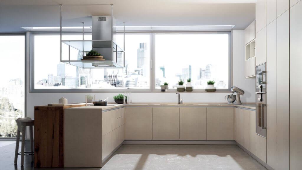 Küche mit matten Fronten in Magnolie, Foto: Scavolini