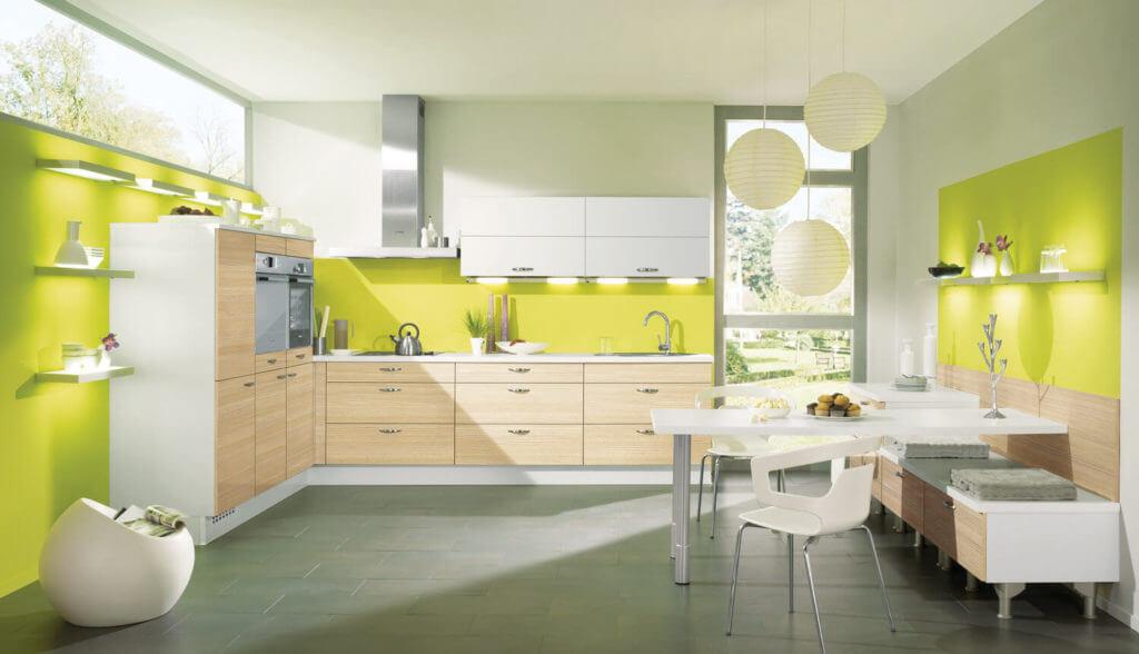 L-Küche in sonnigem Gelb; Foto: Alno