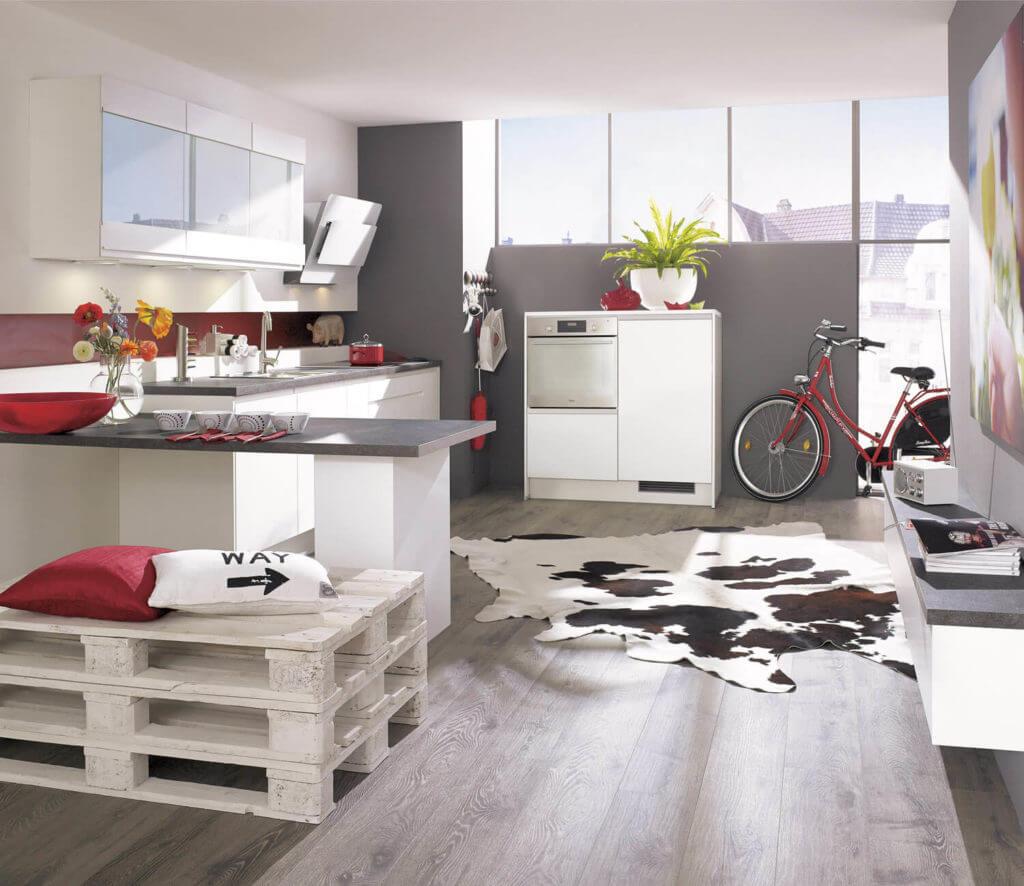 L-Küche im Loft-Look; Foto: Alno