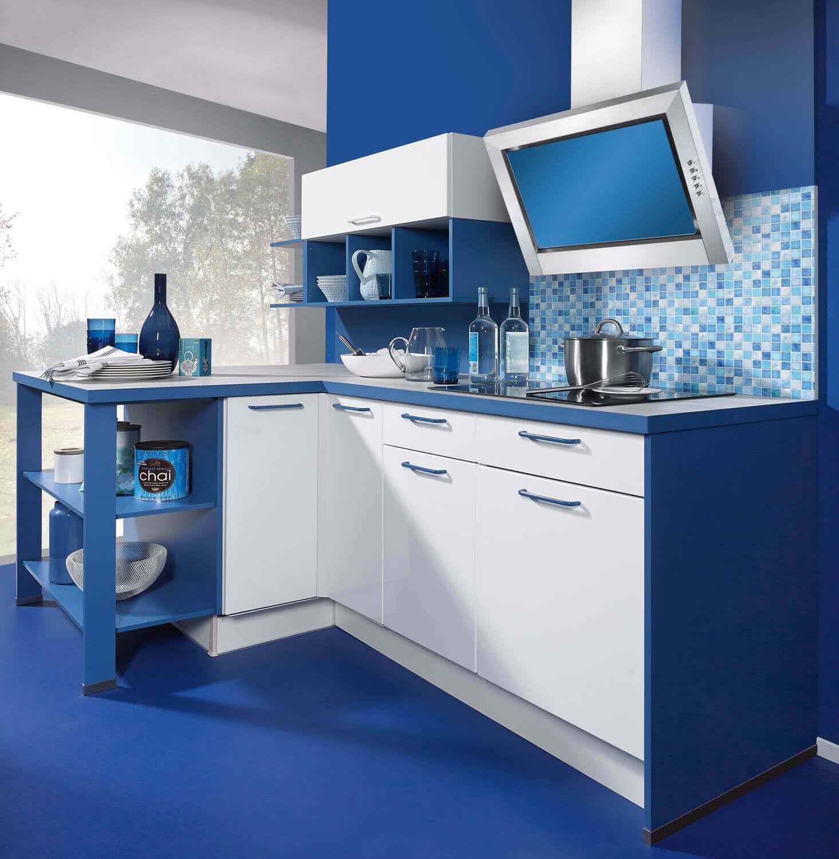 Wunderbar L Küche Das Beste Von Blaue Küche In L-form