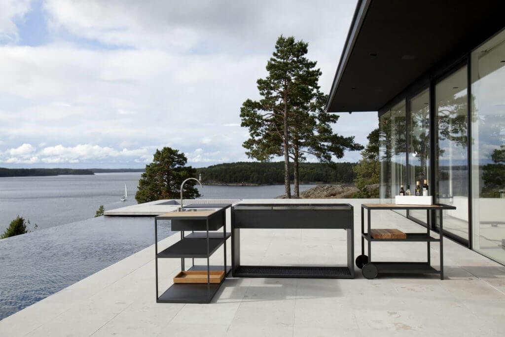 Küche für den Garten: Bilder und Ideen für Outdoor Küchen ...