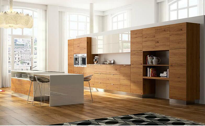 HAKA Küche mit Holz