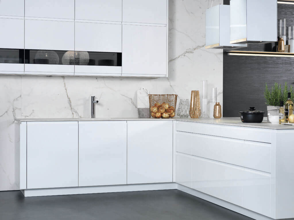 Küche mit marmor foto rational