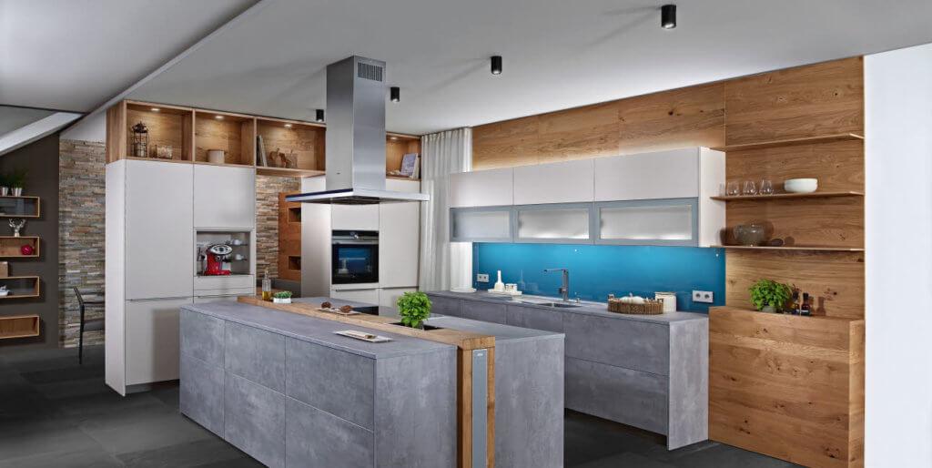 Küche in Beton-Optik von Ewe; Foto: Ewe Küchen