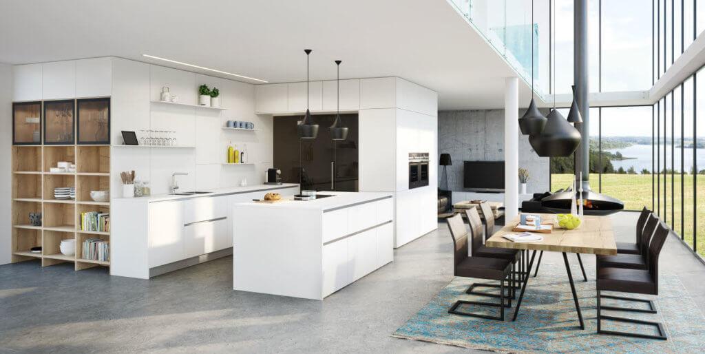 Grifflose Küche Vida von Ewe; Foto: Ewe Küchen