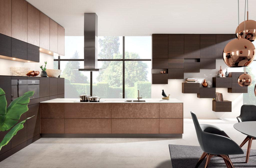 Häcker Küche 4070 I 5081 Bronze Metallic Lack; Foto: Häcker Küchen