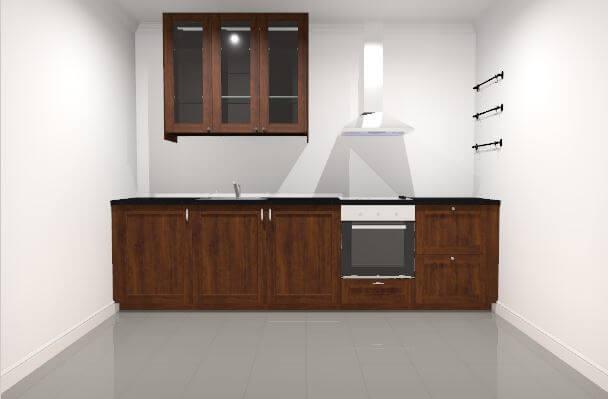 IKEA Online-Planer Vorlage für kleine Landhausküche; Foto: IKEA