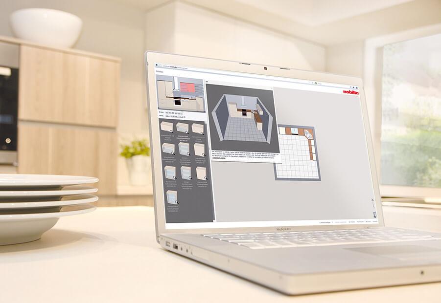 Online Küchenplaner von Nobilia (3D Online Küchenplanungstool), Foto: Nobilia