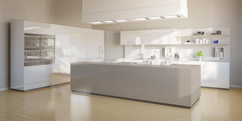 Küche mit Arbeitsplatte aus Silestone (Quarzkomposit); Foto: Silestone