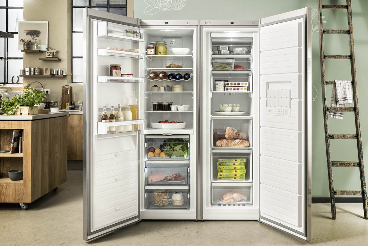 Großer Side-by-Side Kühlschrank. Foto: Neff