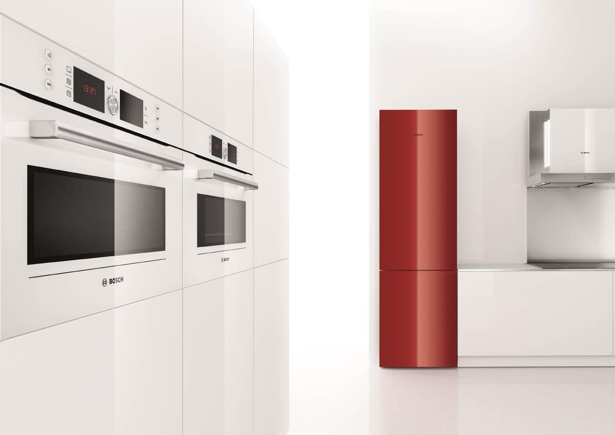 Bosch Kühlschrank Glasfront : Bosch küchengeräte: bilder & infos zu backöfen kochfeldern