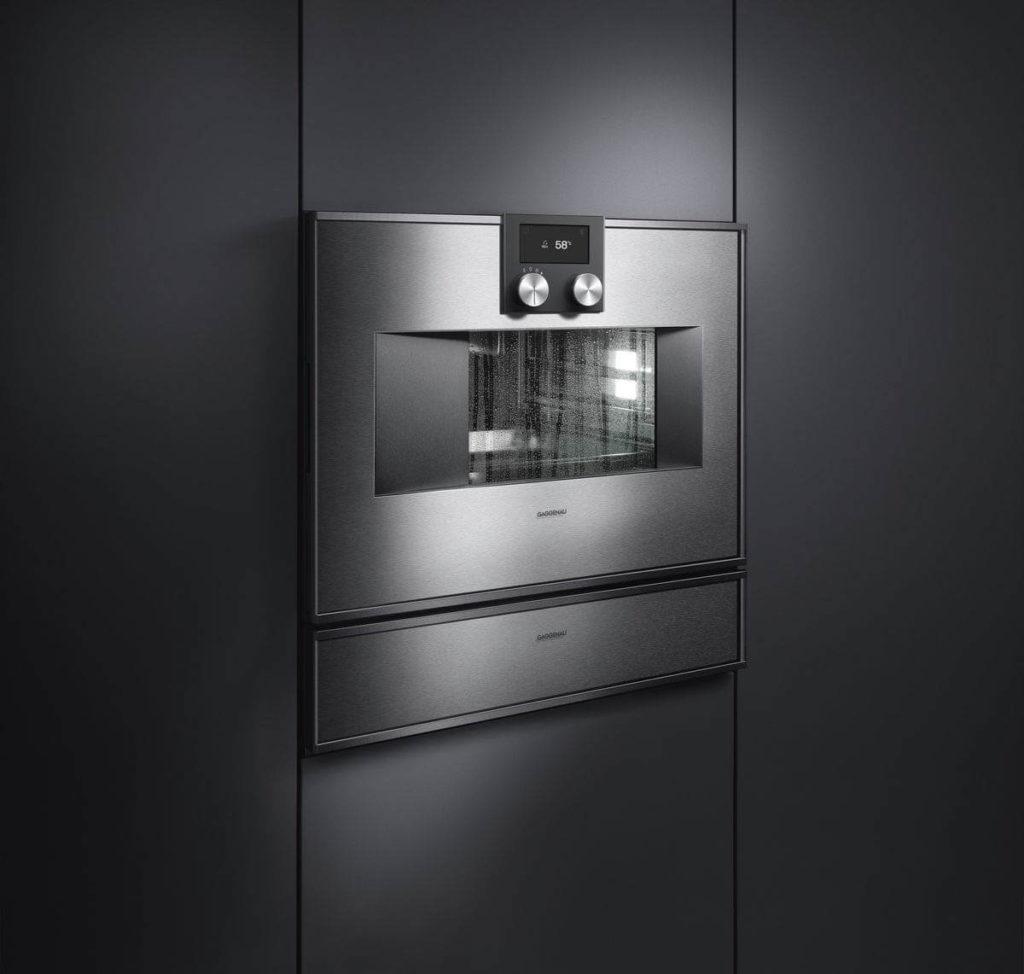 Gaggenau Kobmi-Ofen mit Dampfgarer und Vakuumierschublade der Serie 400, Foto: Gaggenau