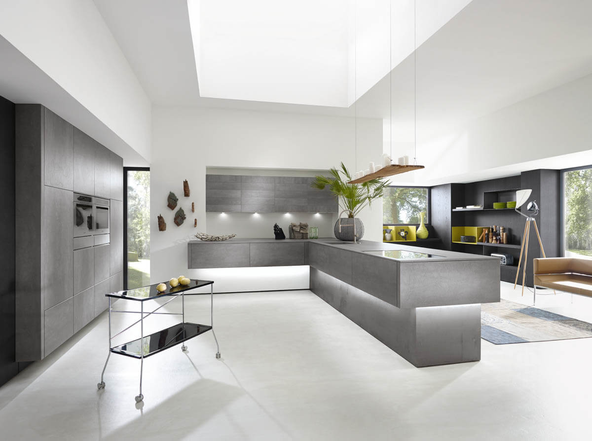 Graue Küche in Betonoptik von Alno (Alnocera Concretto). Foto: Alno