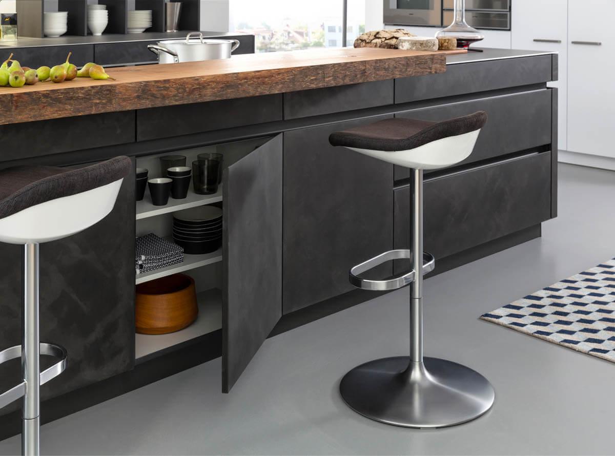 Beton-Küchen im Vergleich: Bilder von Nobilia, Alno, Nolte und