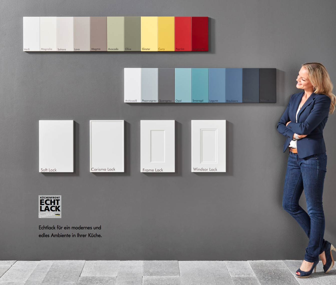 Das Nolte Küchen Mattlack System kombiniert gekonnt vier Fronten Ausführungen mit 20 Farben. Foto: Nolte