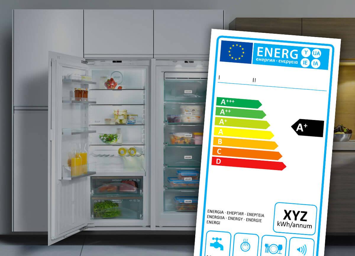 Energielabel (Hintergrund-Foto: Miele)
