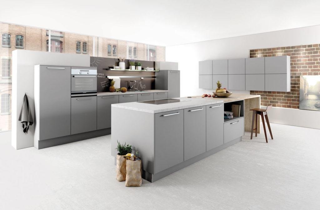 Küchenfronten Trends 2018: Fronten aus Glas, Beton, Metall, matte ...