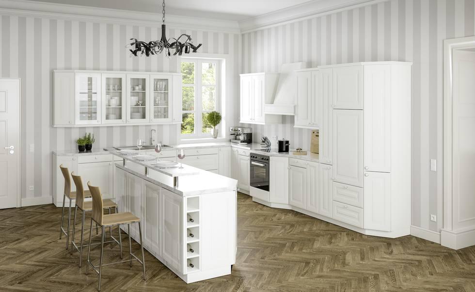 Landhausküche Hochglanz: Bilder und Ideen für eine Küche im ...