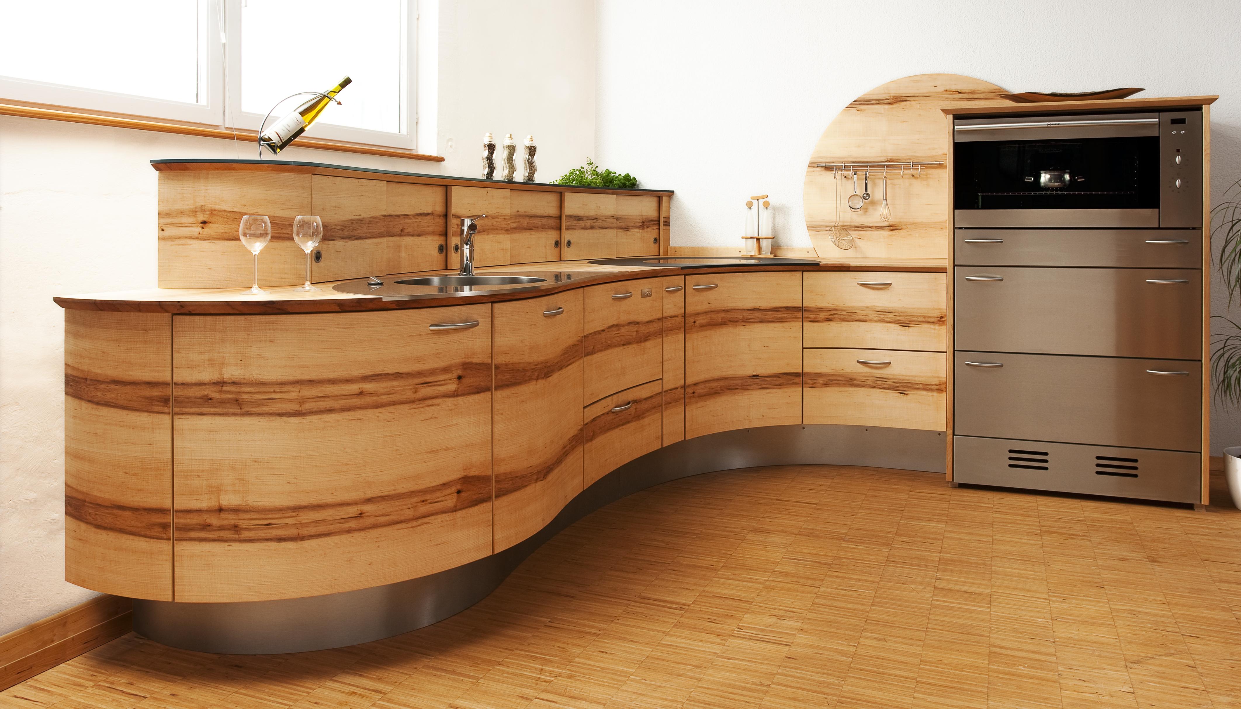 Holzküche: Was ist der Unterschied zwischen Massivholz ...