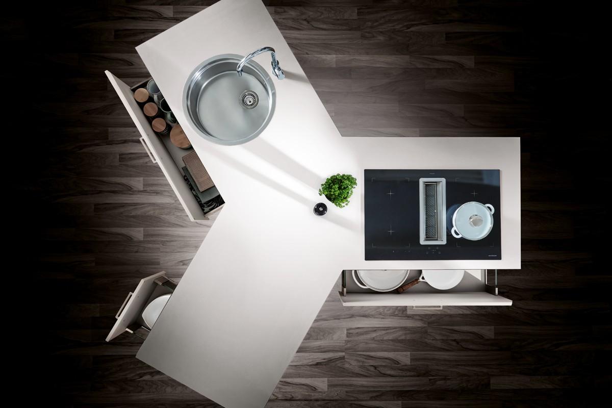 Küchen in besonderen Formen und Designs: Y-Küche, runde ...