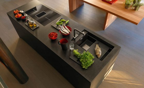 graue k che die 6 sch nsten ideen und bilder k chenfinder magazin. Black Bedroom Furniture Sets. Home Design Ideas