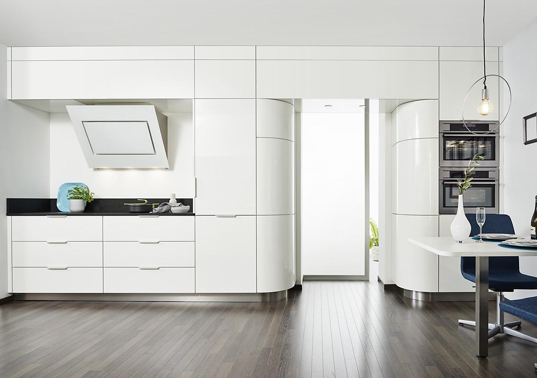 Runde Küchenzeile in puristischem Design Foto: Inspiration Küche