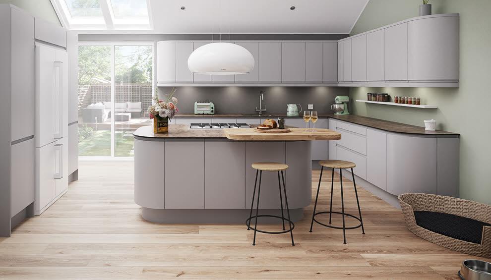 Runde Formen dominieren - Sowohl in der Küche als auch im Mobiliar Foto: Magnet