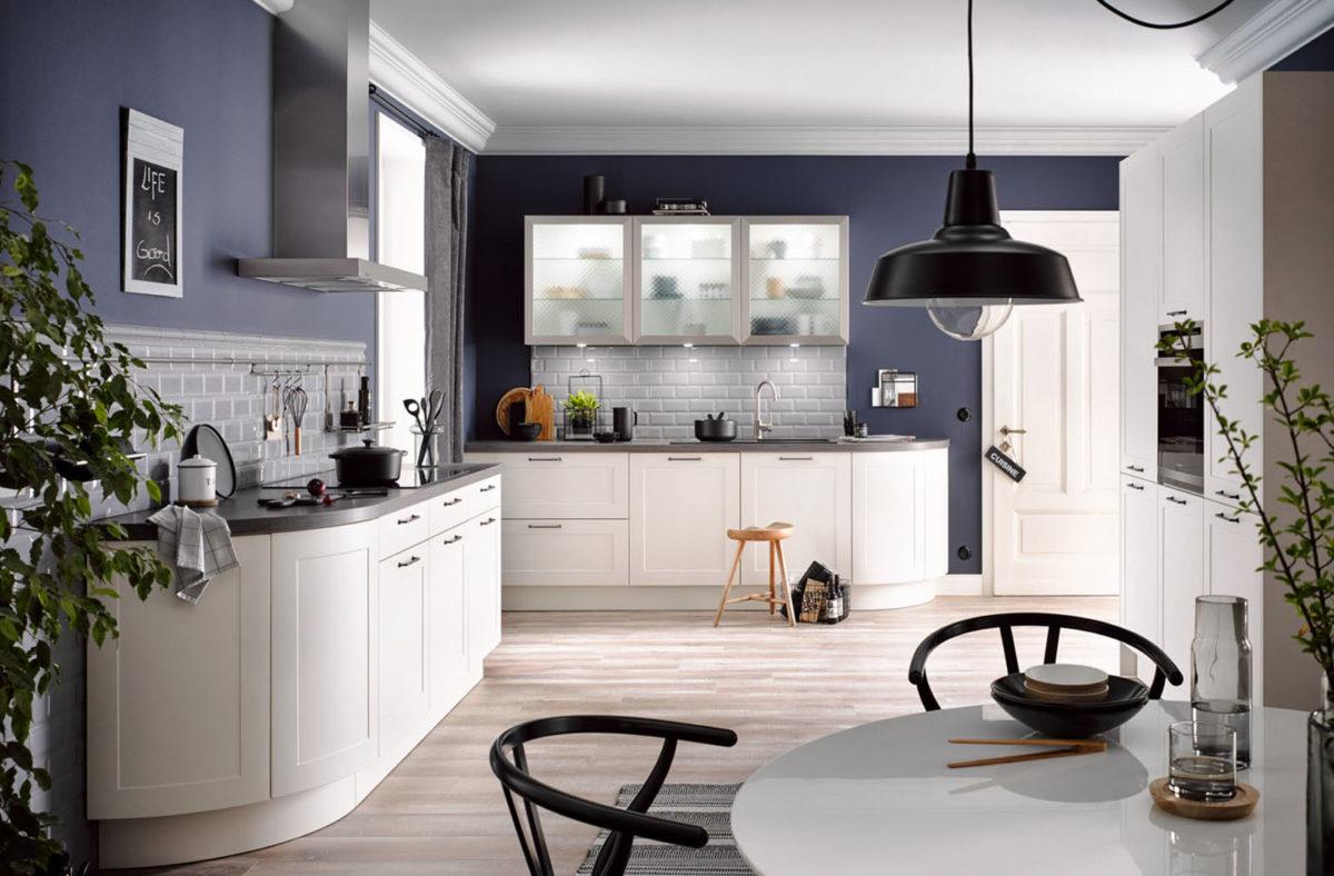 Zweizeilige Rundküche von Häcker Foto: Häcker