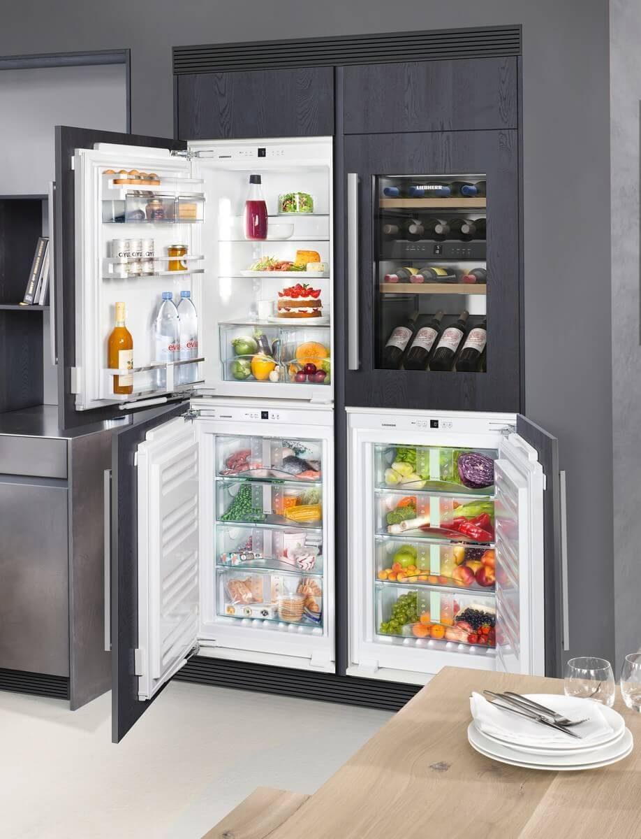 Liebherr Kühl- und Gefrierkombination mit eigenem Weinkühlschrank; Foto: Liebherr