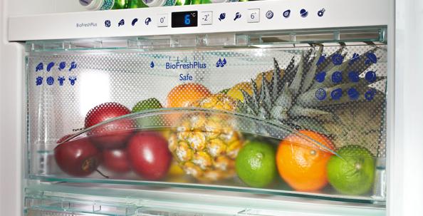 Liebherr BioFresh: Spezielle Lagerung für Obst und Gemüse für mehr Frische; Foto: Liebherr