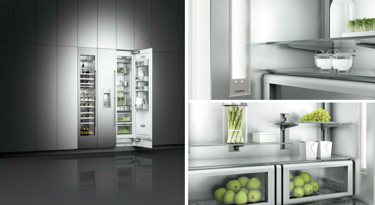 Die Vario Kälte-Serie 400 aus dem umfangreichen Produktkatalog der Firma Gaggenau. Quelle: http://www.gaggenau-press.com